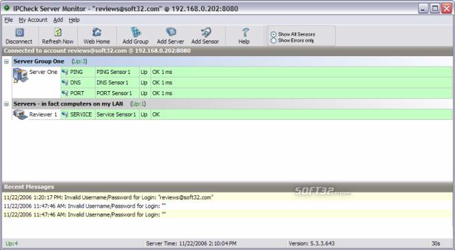IPCheck Server Monitor Screenshot 3