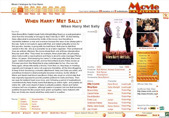 Movie Catalogue Screenshot