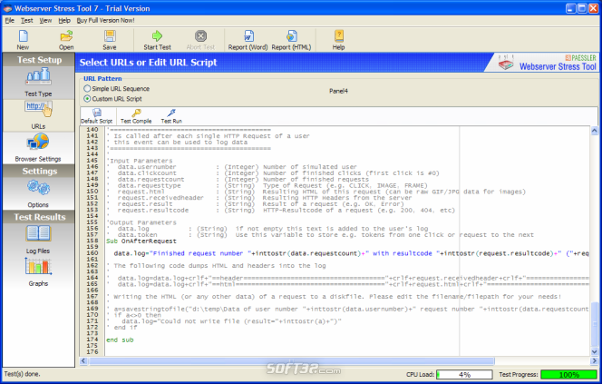 Webserver Stress Tool Screenshot 2