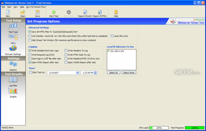 Webserver Stress Tool Screenshot 5