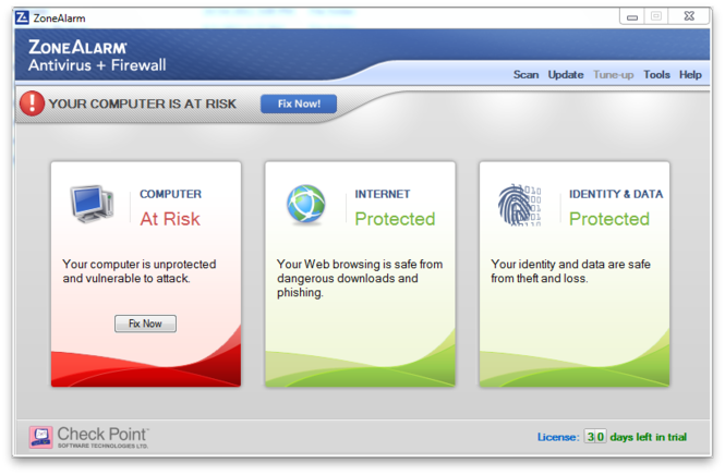 ZoneAlarm Antivirus Screenshot