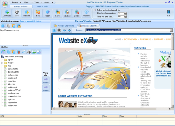 Website Extractor Screenshot
