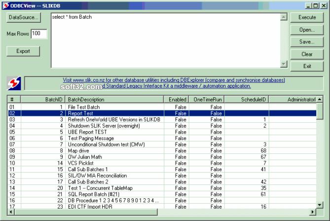 ODBC View Screenshot 2