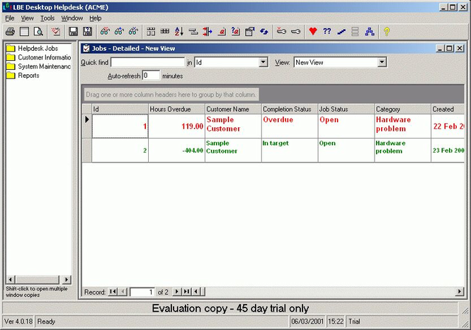 LBE Desktop Helpdesk Screenshot