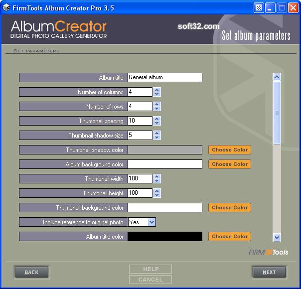 FirmTools AlbumCreator Pro Screenshot 4