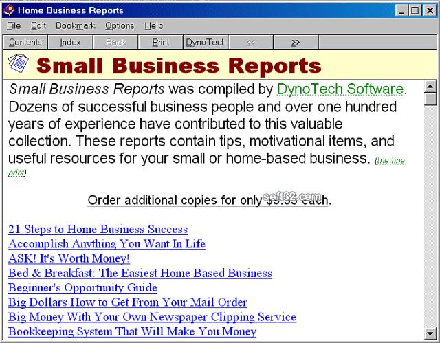 Business Reports Screenshot 2