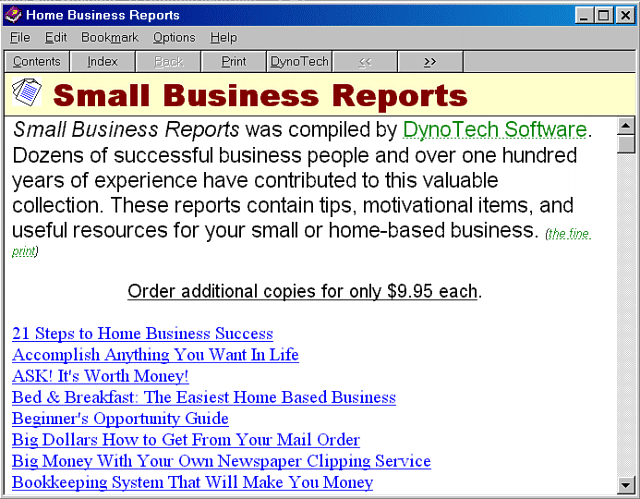 Business Reports Screenshot 1
