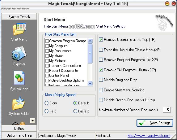 MagicTweak Screenshot 5