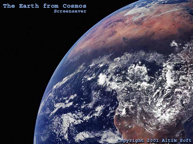 Earth from Cosmos Screensaver Screenshot