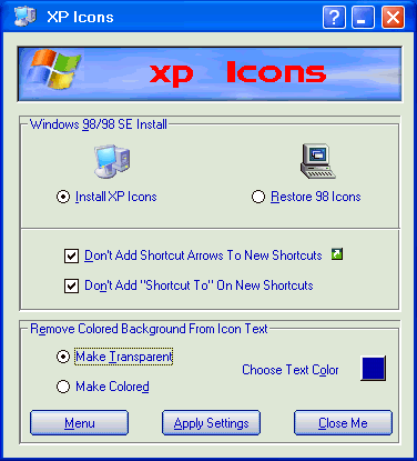 XP Icons Screenshot
