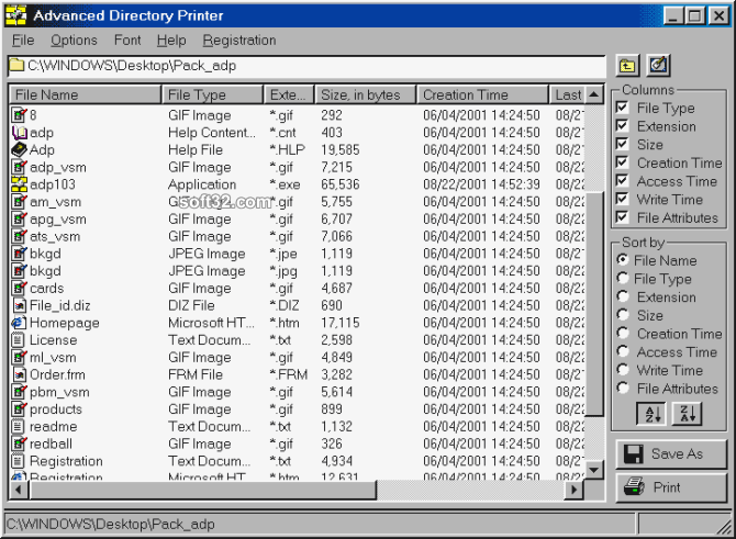 Advanced Directory Printer Screenshot 3