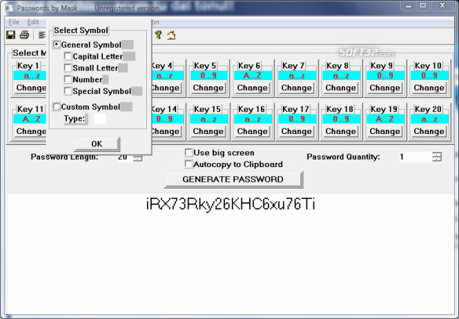 Passwords by Mask Screenshot 2