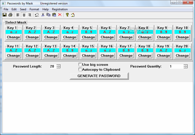 Passwords by Mask Screenshot 5