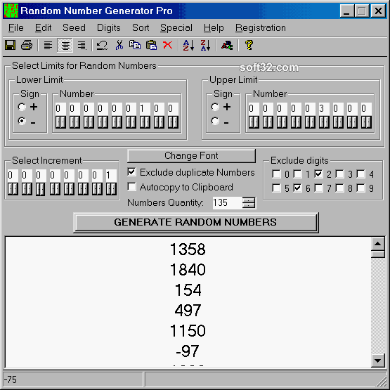 Random Number Generator Pro Screenshot 3