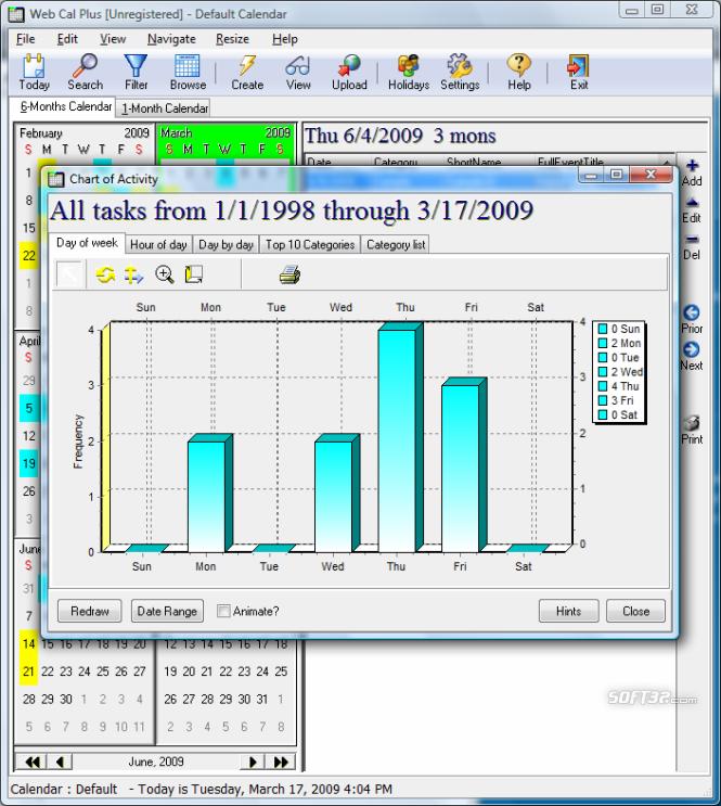 Web Cal Plus Screenshot 5