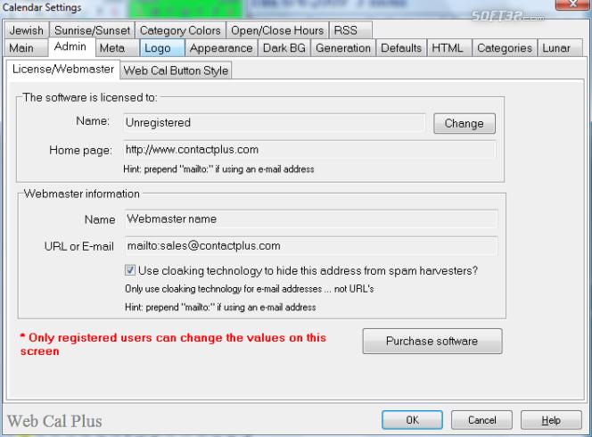 Web Cal Plus Screenshot 6