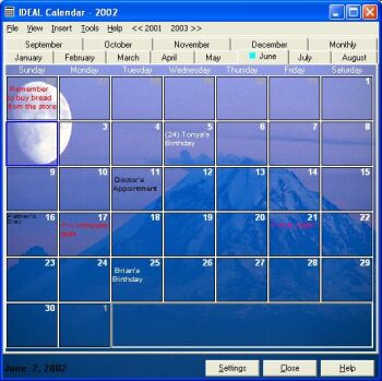 IDEAL Calendar Screenshot 1