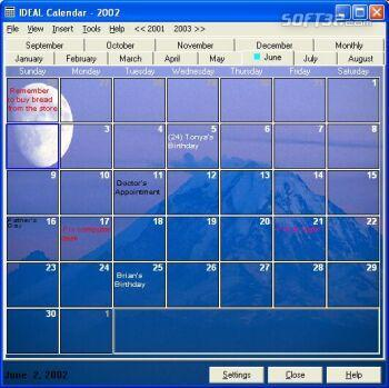 IDEAL Calendar Screenshot 3