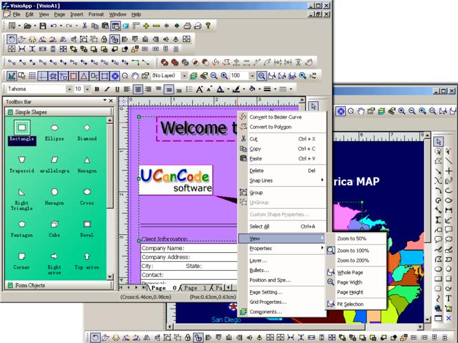 XD++ MFC/C++Flow/Diagram Source Code Kit Screenshot 2