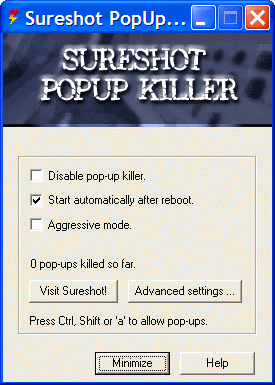 Sureshot PopUp Killer Screenshot 1