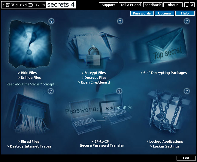 east-tec InvisibleSecrets Screenshot 1