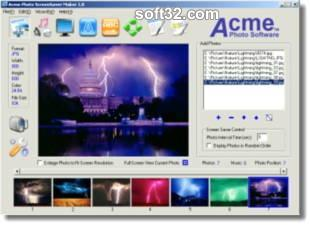Acme Photo ScreenSaver Maker Screenshot 2