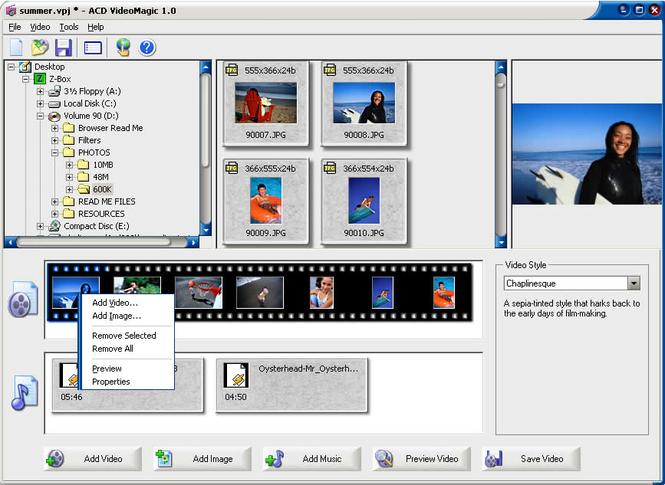 ACD VideoMagic Screenshot