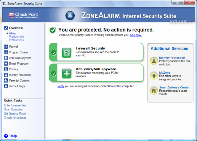 ZoneAlarm Security Suite Screenshot