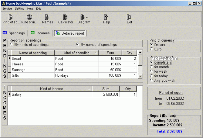 Home Bookkeeping Lite Screenshot 3