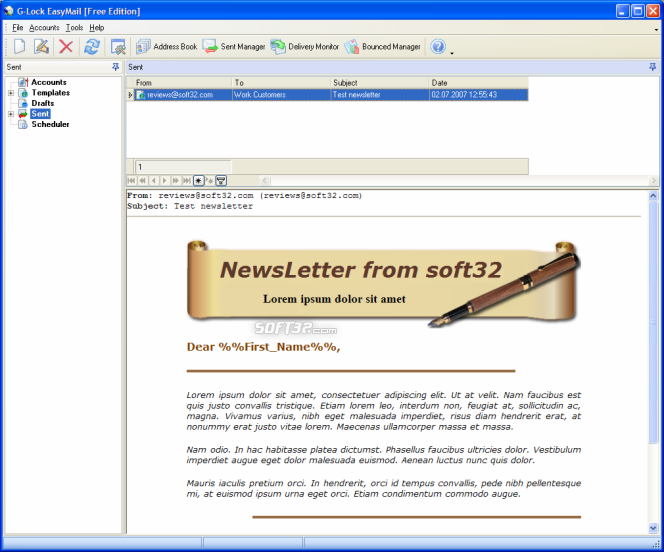 G-Lock EasyMail 5 Business Edition Screenshot 2