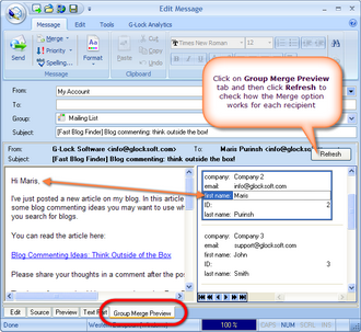 G-Lock EasyMail 5 Business Edition Screenshot
