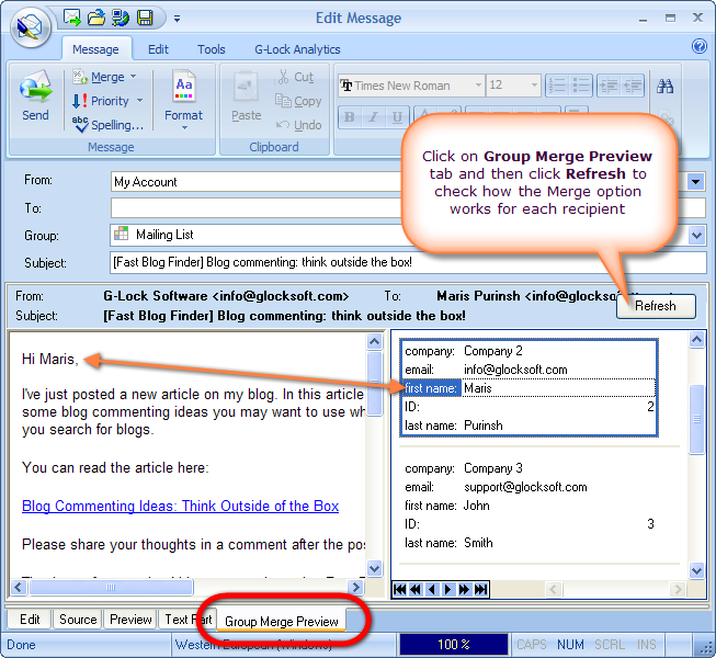G-Lock EasyMail 5 Business Edition Screenshot 11