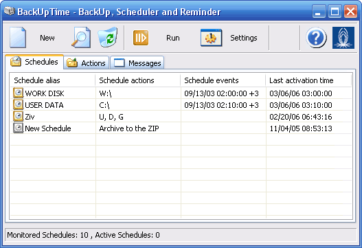 BackUpTime Screenshot 1