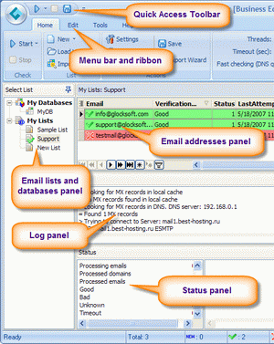 Advanced Email Verifier Screenshot