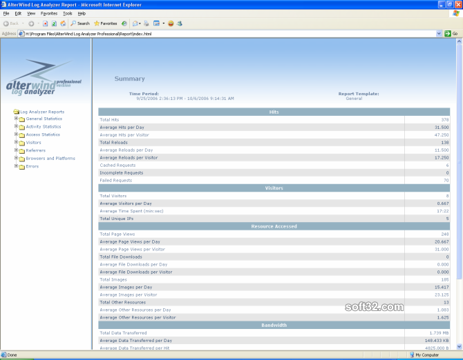 AlterWind Log Analyzer Professional Screenshot 2