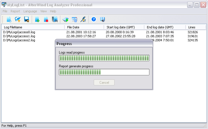 AlterWind Log Analyzer Professional Screenshot