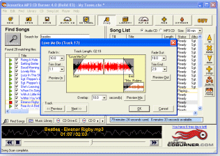 Acoustica MP3 CD Burner Screenshot