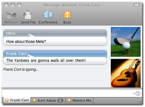Yahoo Messenger Screenshot 2