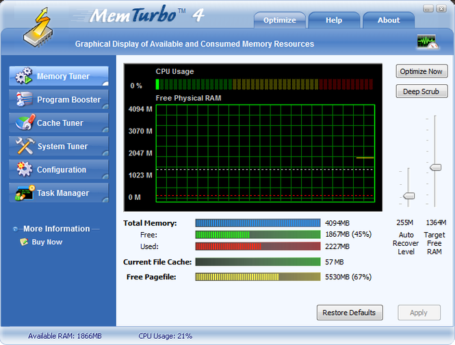 MemTurbo Screenshot
