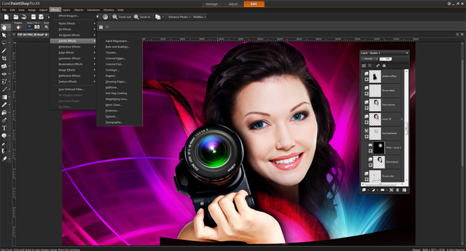 Corel PaintShop Pro Screenshot