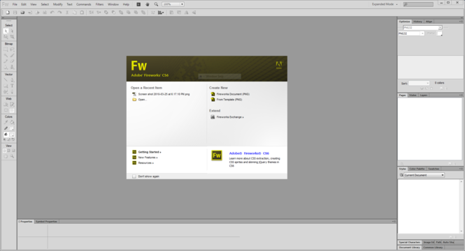 Macromedia Fireworks MX Screenshot