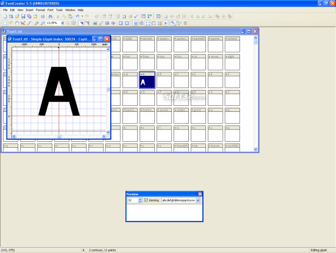 FontCreator Home Edition Screenshot 4