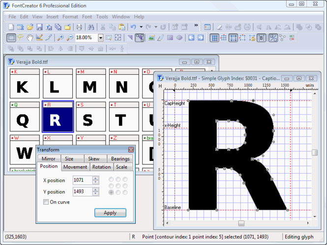 FontCreator Home Edition Screenshot 1