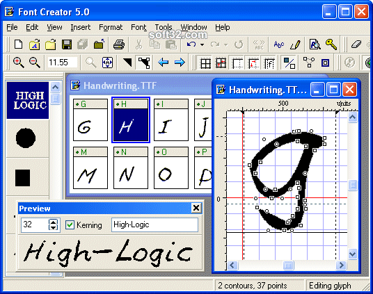FontCreator Home Edition Screenshot 2