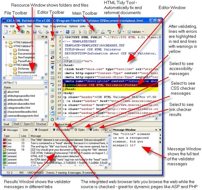 CSE HTML Validator Pro Screenshot 3