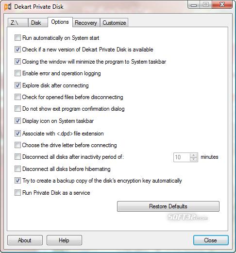 Dekart Private Disk Screenshot 4