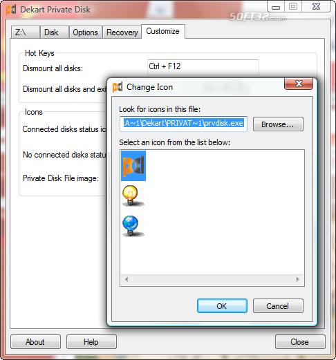 Dekart Private Disk Screenshot 7