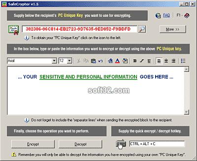 SafeCryptor Screenshot 2