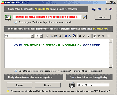 SafeCryptor Screenshot 1