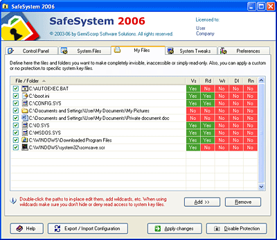 SafeSystem Screenshot